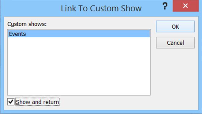Link to Custom Show