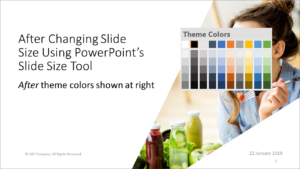 presentation wiz powerpoint loses fonts and theme colors when
