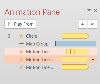 14.2: Your Animation Pane might look something like this.
