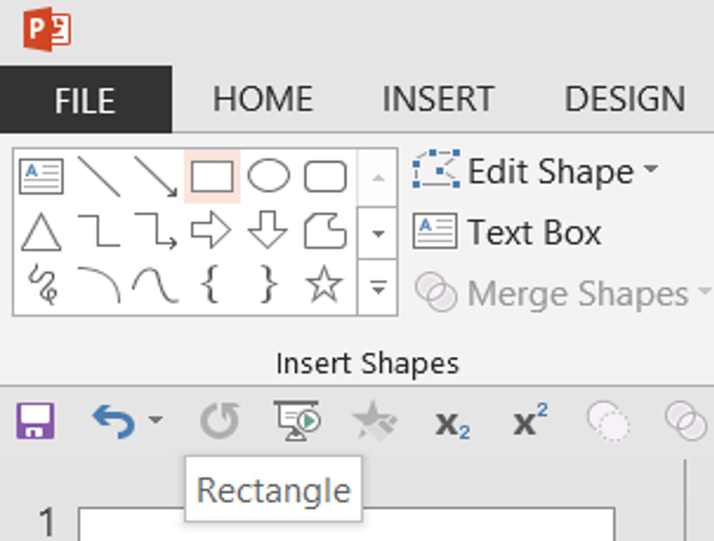 Step Two: Find the Rectangle Drawing Tool in the Drawing Group under the Home Tab or in the Illustrations Group under the Insert Tab.