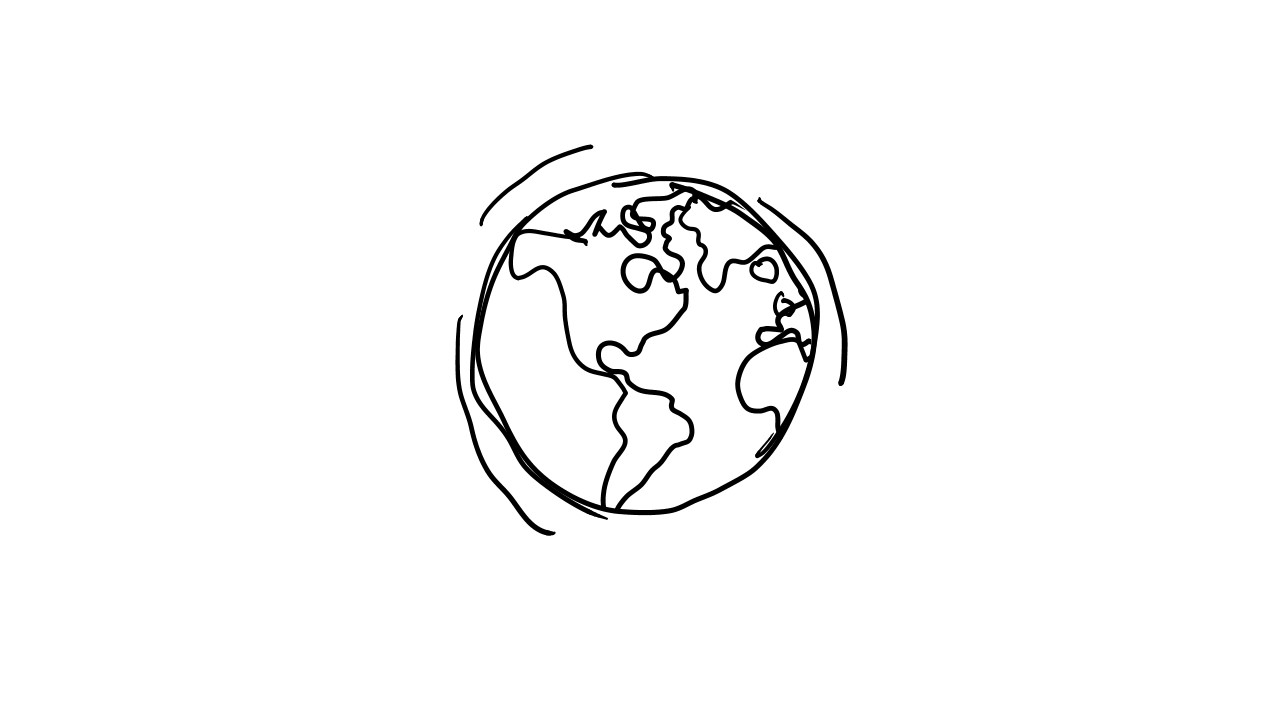 Step 15: Start with a blank slide. Change the Blue Rectangle to White without a Border. Check out your animated, sketch globe in Slide Show view.