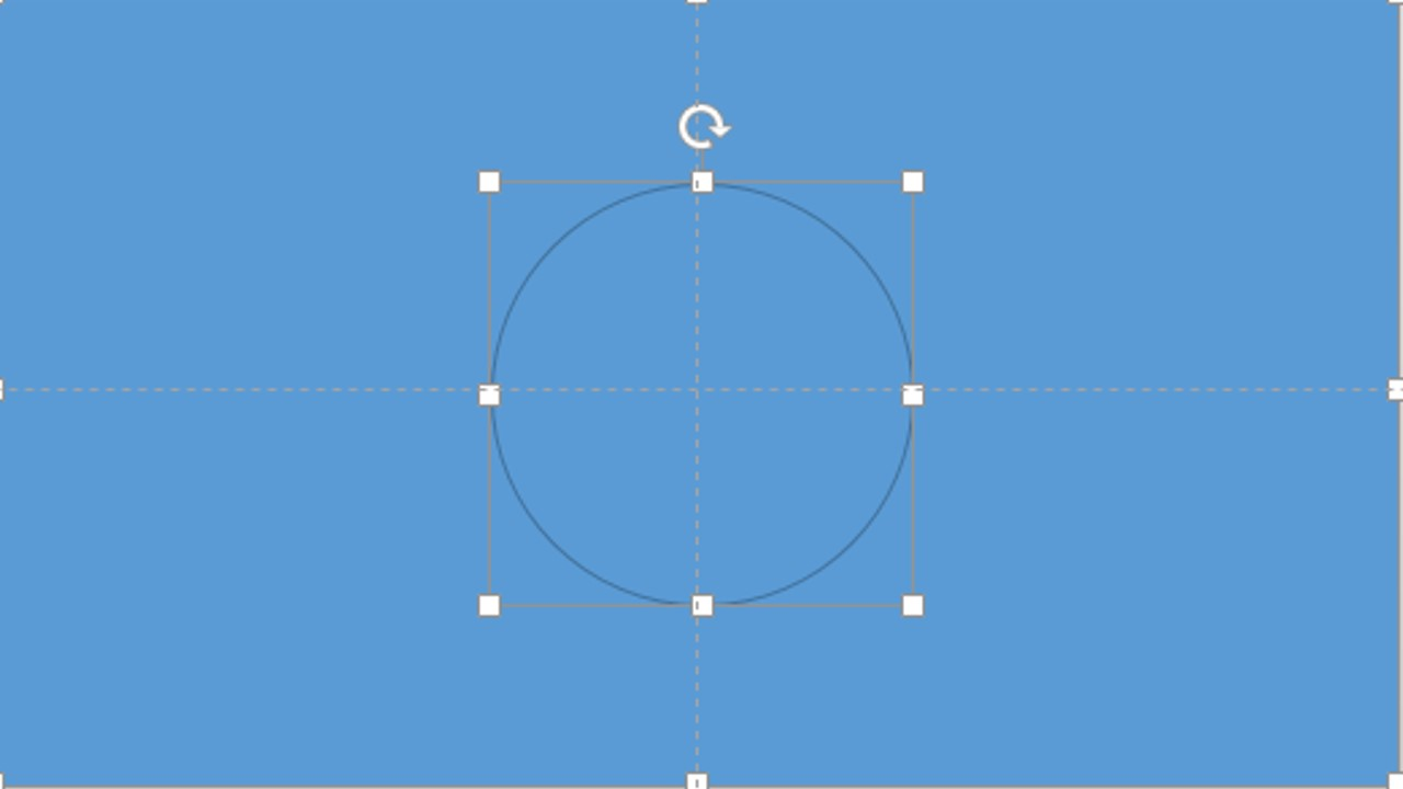 Step 4: Holding the Shift Key,  Select the Rectangle, then Select the Oval so both Shapes on the slide on selected.