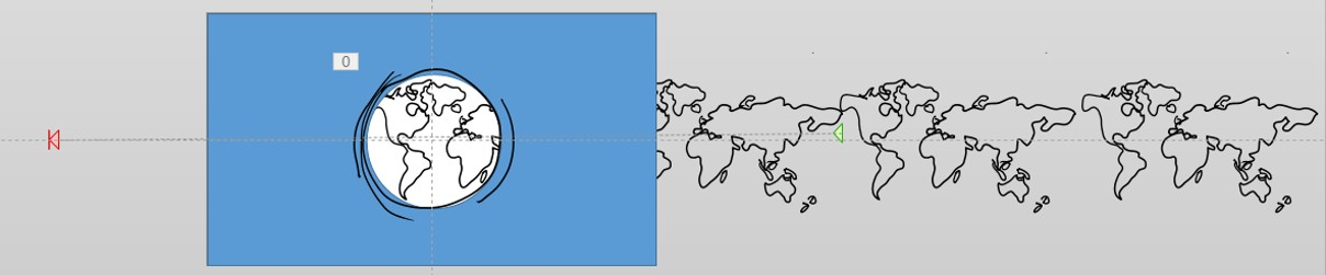 Step 13: Go to the Animation Tab > Add Animation > Motion Path > Custom Path. Draw the Custom Path so that the group of maps moves to the left far enough to show all five maps in the group.
