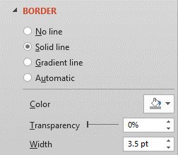 Choose Border Color and Width